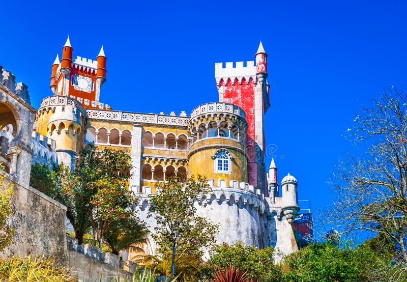 Sintra, palacio de Pena, Portugal foto de archivo