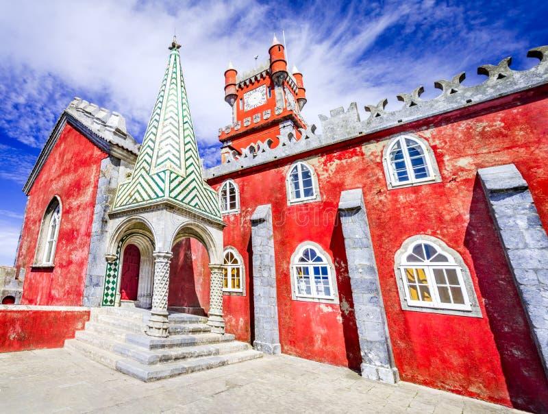 Sintra, palacio de Pena, Portugal - Océano Atlántico foto de archivo libre de regalías