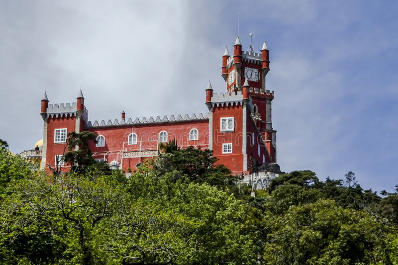 Sintra Pena palace royalty free stock photos