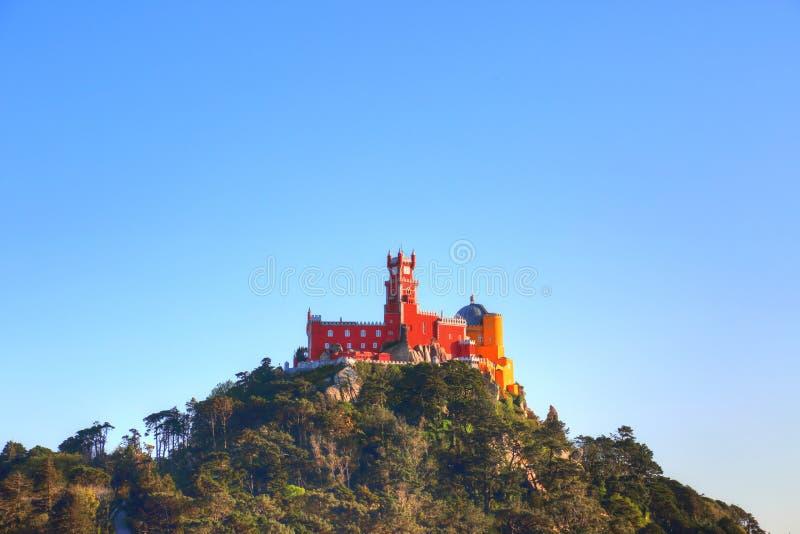 Sintra, Portogallo, castello scenico del attracca fotografie stock