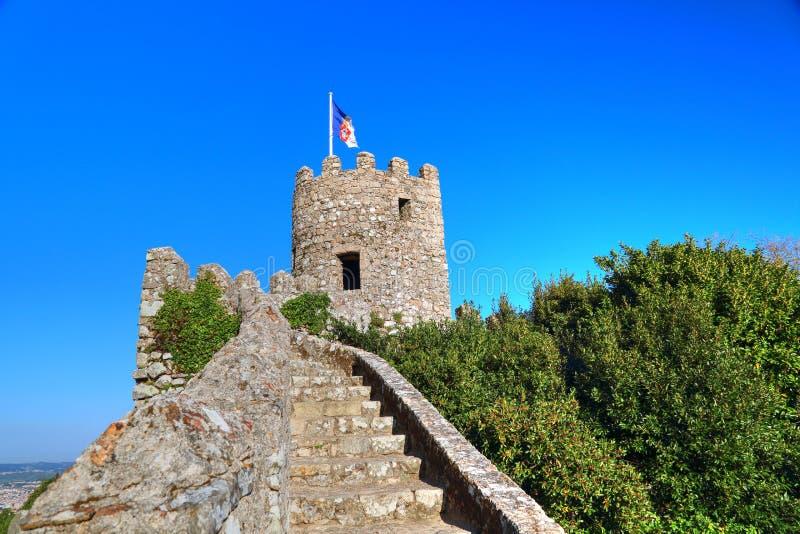 Sintra, Portogallo, castello scenico del attracca fotografia stock libera da diritti