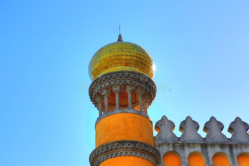 Sintra, Portogallo, castello scenico del attracca immagini stock libere da diritti