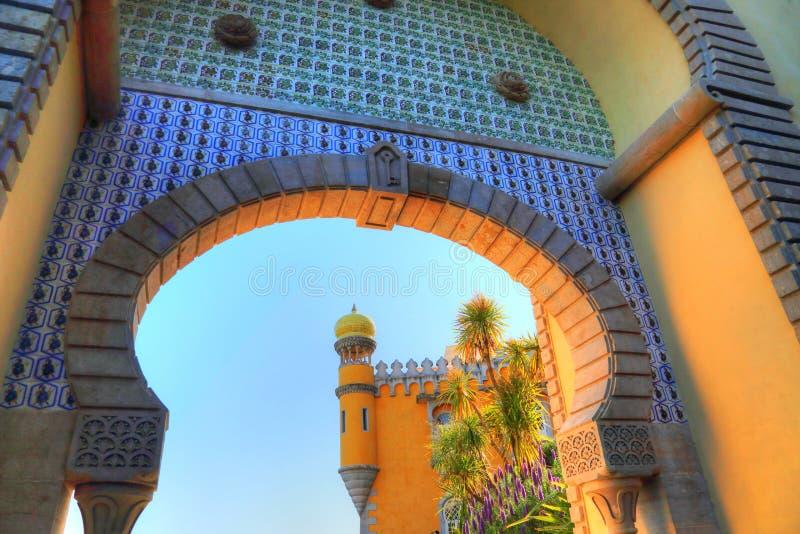 Sintra, Portogallo, castello scenico del attracca fotografie stock libere da diritti
