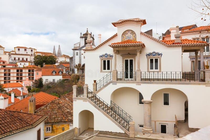 Sintra, Portugal, arquitectura da cidade imagens de stock