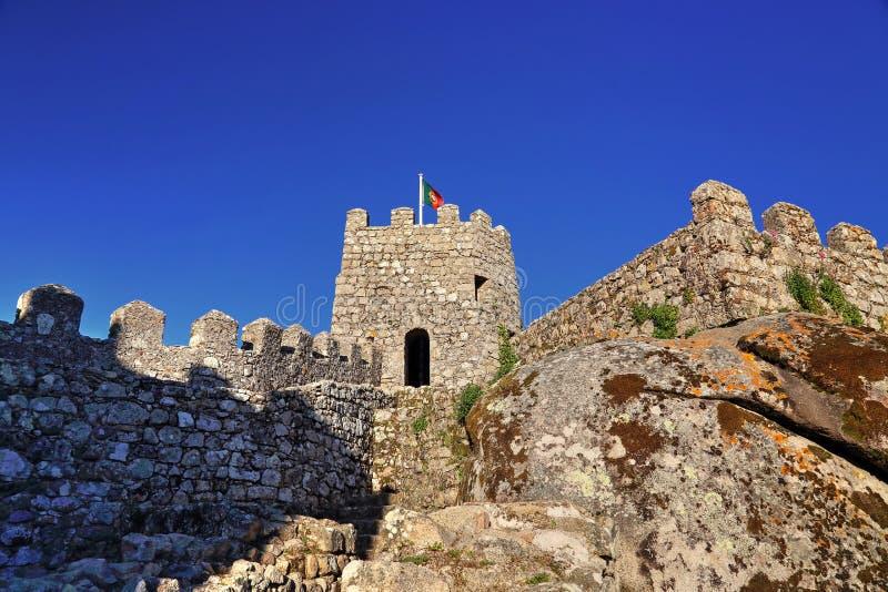 Sintra, Portugal, castelo cênico do amarra imagem de stock royalty free