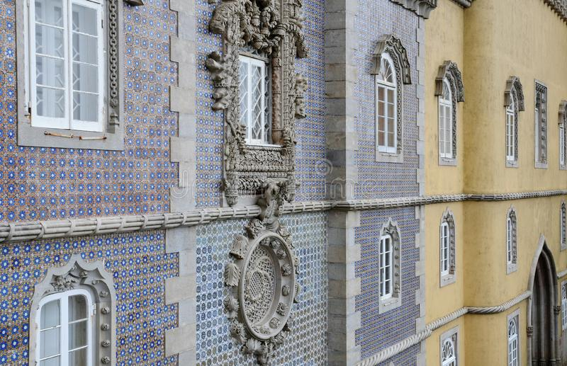Sintra, Portugal - 2 de julho de 2010: O palácio do nacional de Pena fotos de stock royalty free