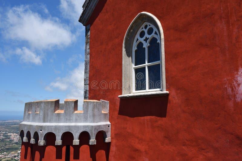 Sintra, Portugal en el palacio del nacional de Pena detalle fotografía de archivo libre de regalías