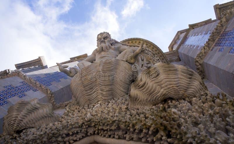 Sintra, Portugal, 25 Juli, 2018 Het paleis van Pena royalty-vrije stock foto
