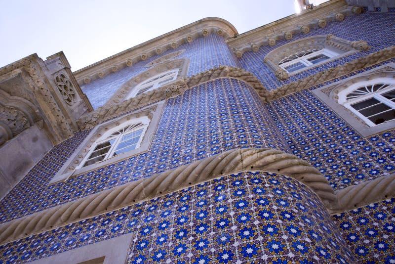 Sintra, Portugal, 25 Juli, 2018 Het paleis van Pena royalty-vrije stock afbeelding