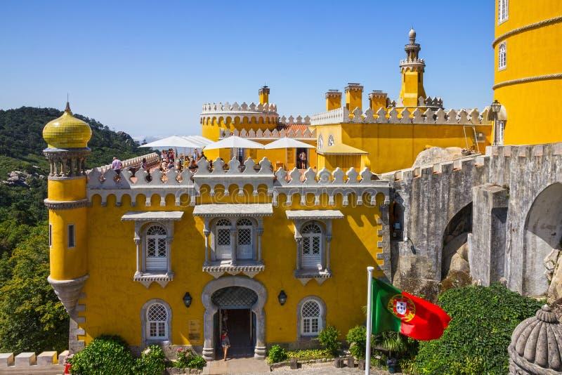 Sintra, Portugal Pena Staatsangehörig-Palast Palacio Nacional DA Pena stockbild