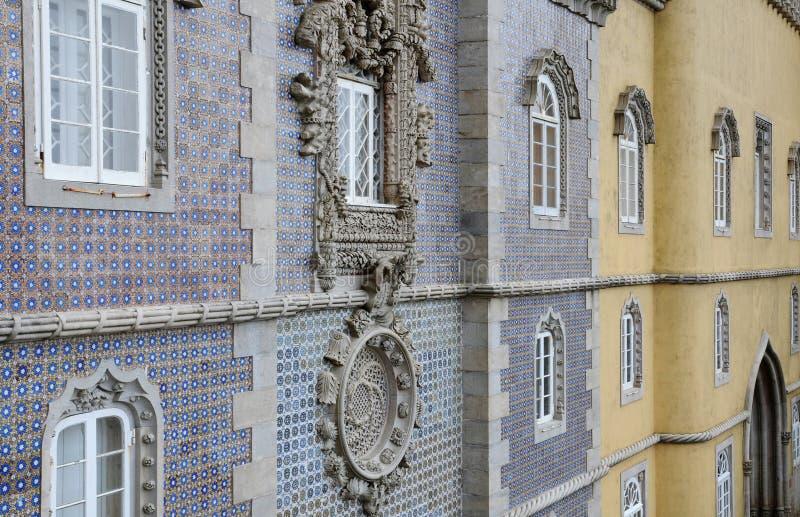 Sintra Portugalia, Lipiec, - 2 2010: Pena obywatela pałac zdjęcia royalty free