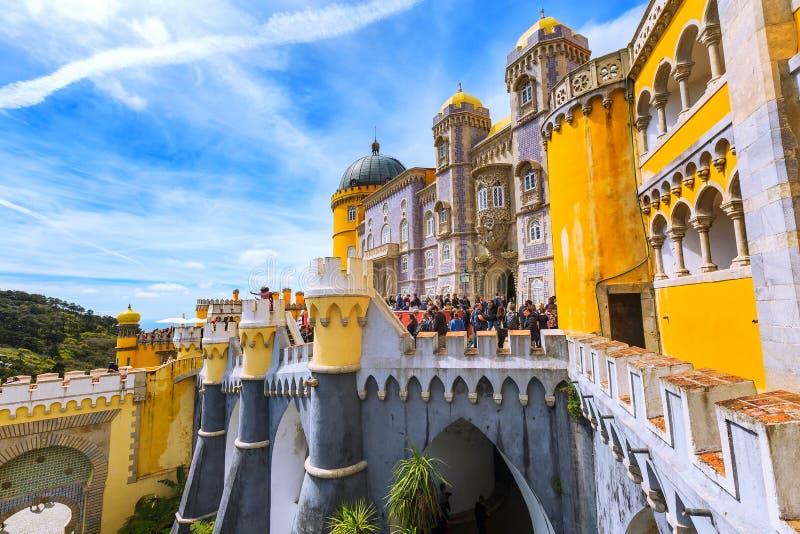 Sintra, Portugalia punkt zwrotny, Pena pałac zdjęcie stock