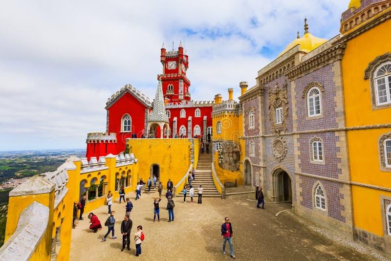 Sintra, Portugalia punkt zwrotny, Pena pałac obraz stock