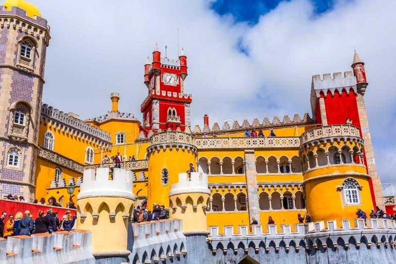 Sintra, Portugalia punkt zwrotny, Pena pałac zdjęcia stock