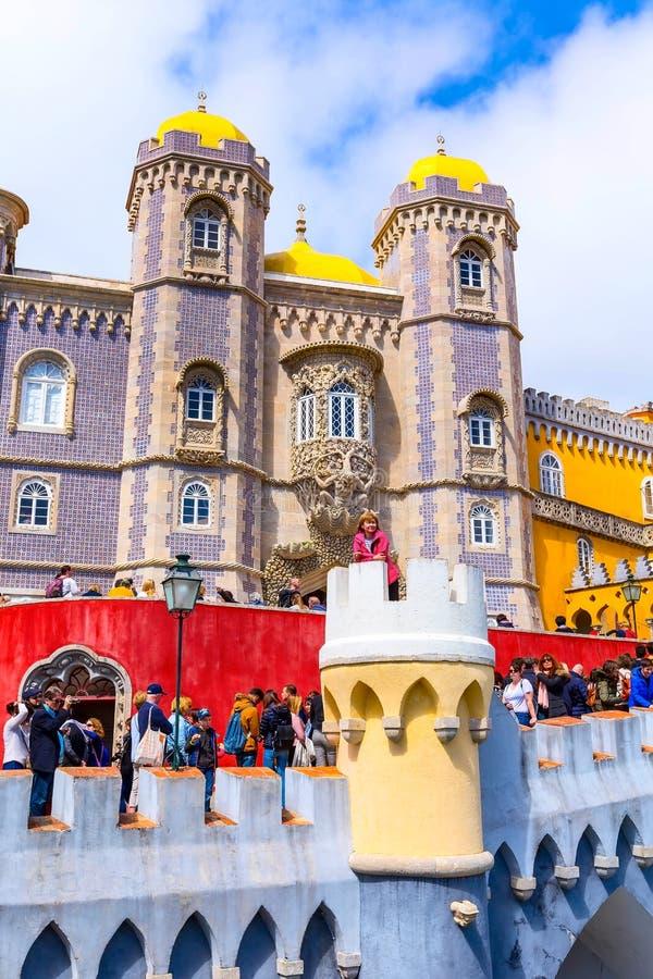 Sintra, Portugalia punkt zwrotny, Pena pa?ac obrazy royalty free