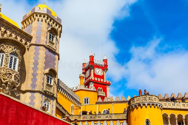 Sintra, Portugalia punkt zwrotny, Pena pa?ac obrazy stock