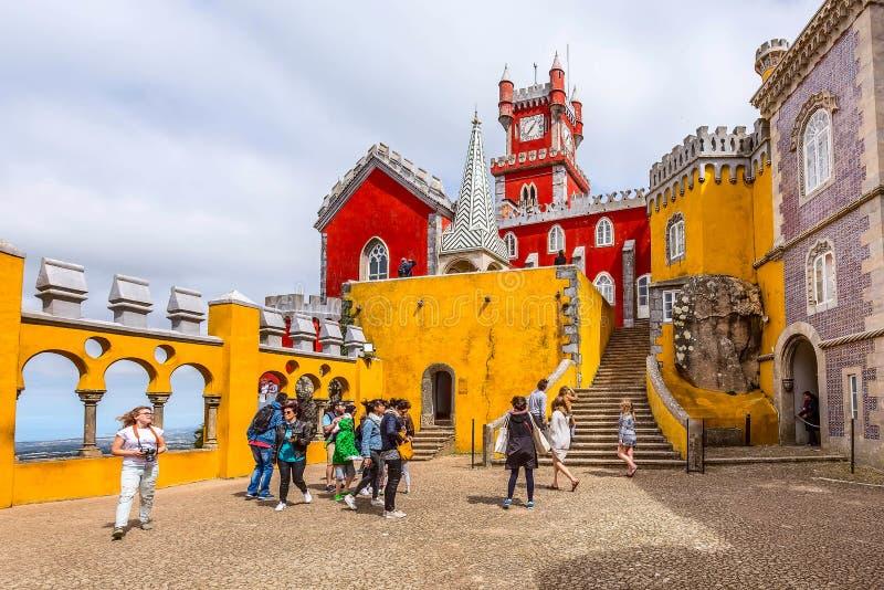 Sintra, Portugalia punkt zwrotny, Pena pa?ac zdjęcia royalty free