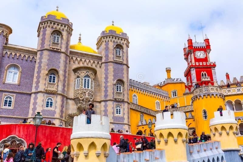 Sintra, Portugalia punkt zwrotny, Pena pa?ac fotografia royalty free