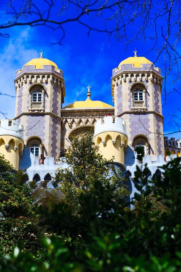 Sintra, punto di riferimento del Portogallo, palazzo di Pena immagini stock libere da diritti