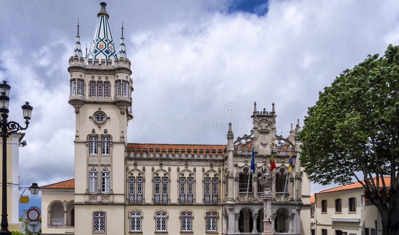 Sintra stadshus, Portugal royaltyfria bilder