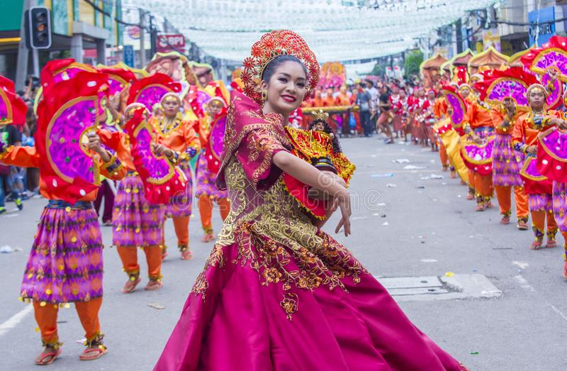 Sinulog festival 2018 royaltyfria bilder