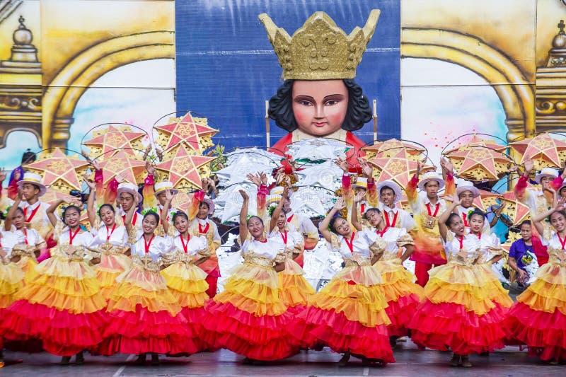 Sinulog festival 2018 royaltyfri foto