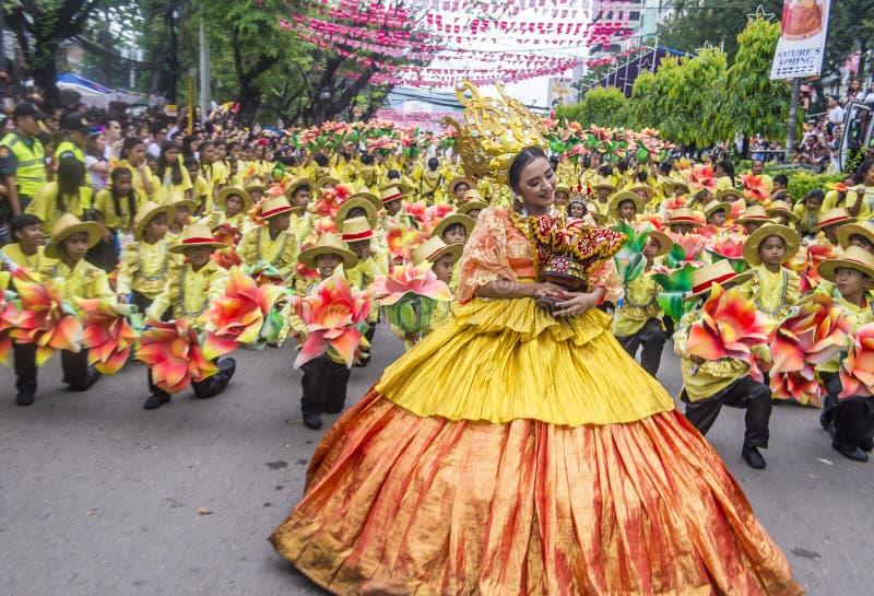 Sinulog festival 2018 arkivbild