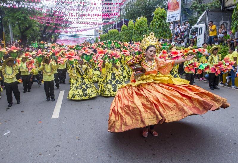 2018 Sinulog festiwal obrazy royalty free