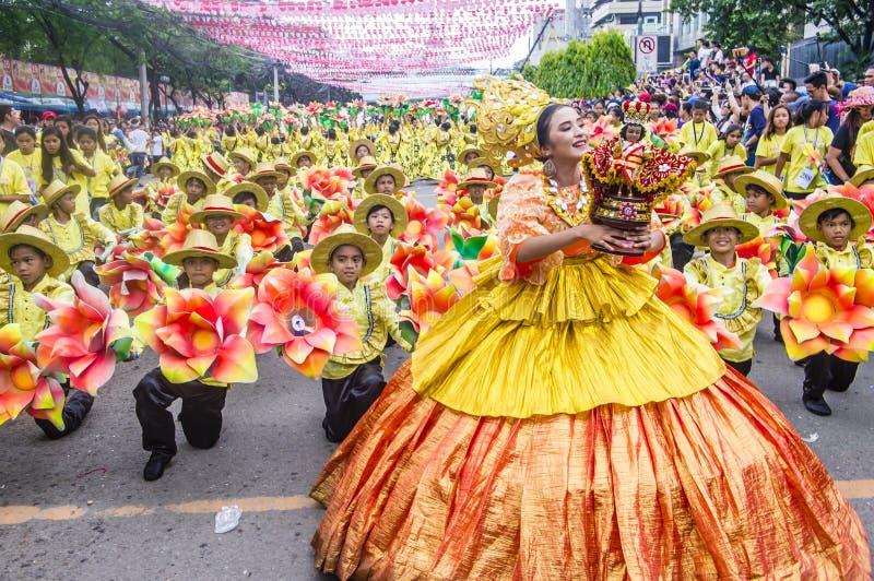 2018 Sinulog festiwal zdjęcie stock