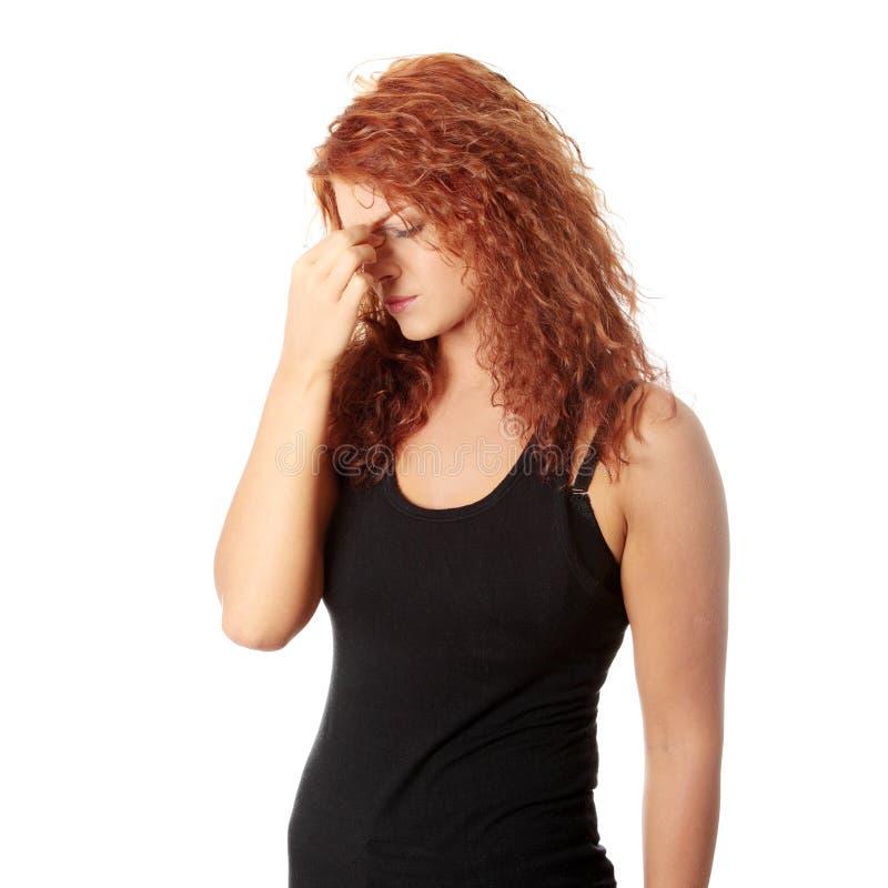 Sinus pain royalty free stock images