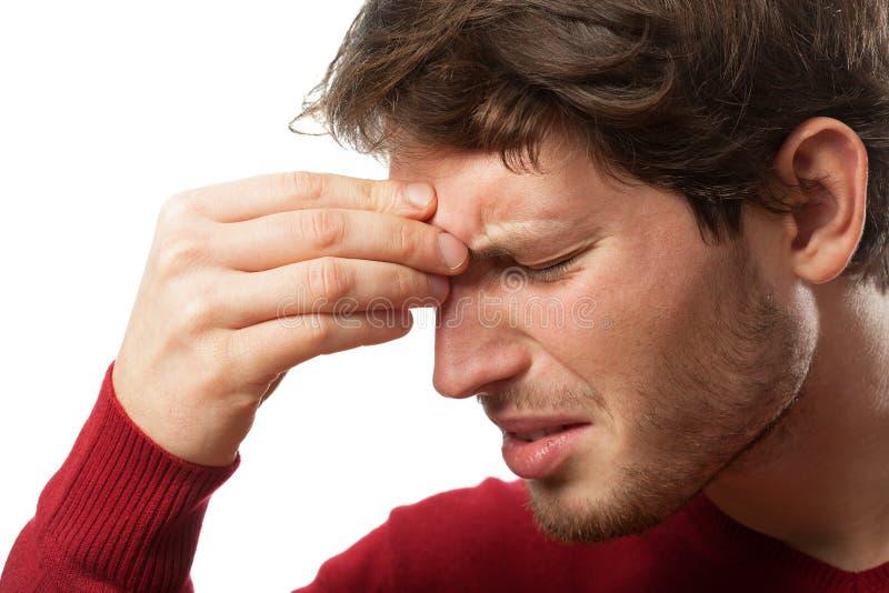 Sinus pain stock images