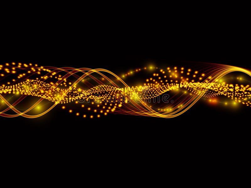 Sinuswellen der Leuchten stock abbildung