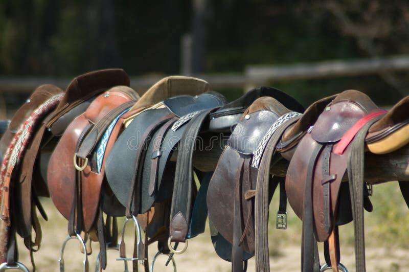 siodełka końskich obraz royalty free