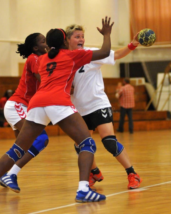 Siofok - Angola handball game royalty free stock image