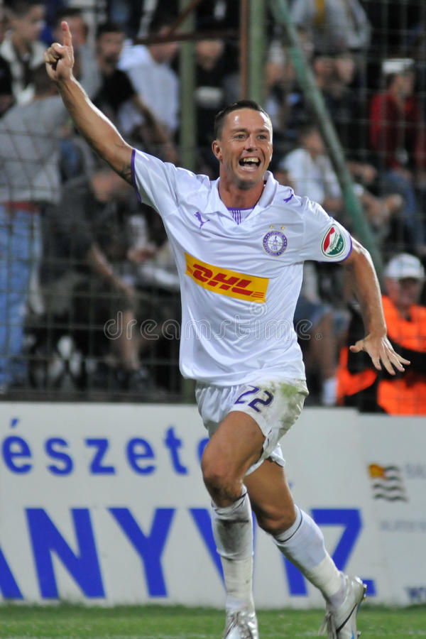 Siofok - Ujpest Fußballspiel lizenzfreie stockbilder