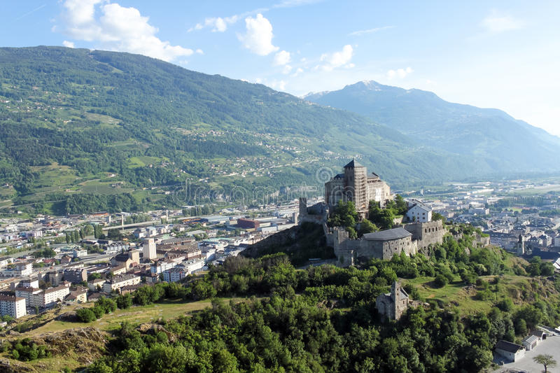 Sion The Canton Of Valais In Switzerland Stock Image Image of