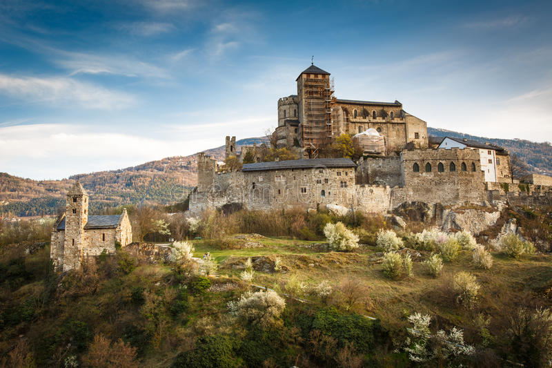Sion, het kasteel van Zwitserland - van Valere royalty-vrije stock fotografie
