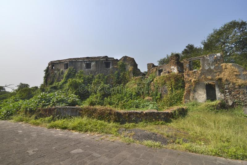 The Sion Hillock Fort in Mumbai, India.  stock photo