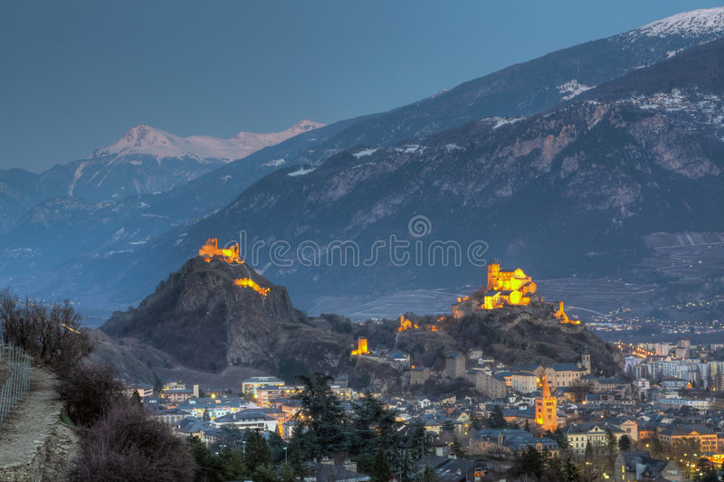 Download Sion skyline, Switzerland stock image. Image of valais - 8648979