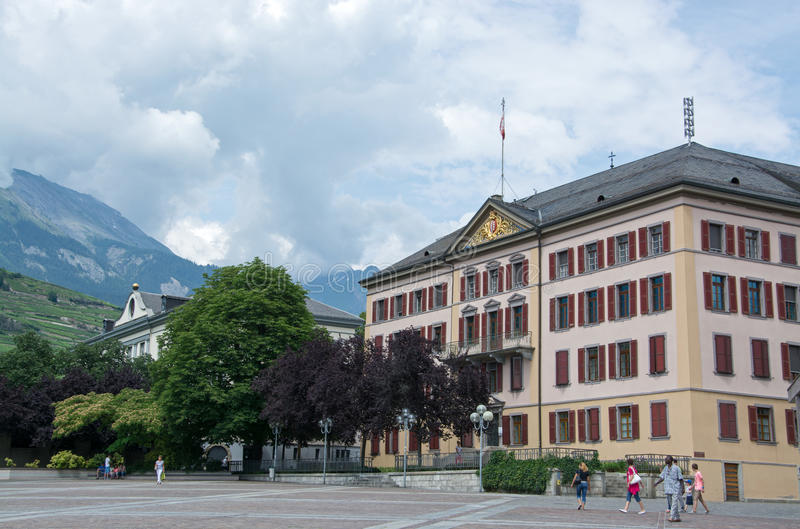 Sion, Valais, Switzerland royalty free stock photography