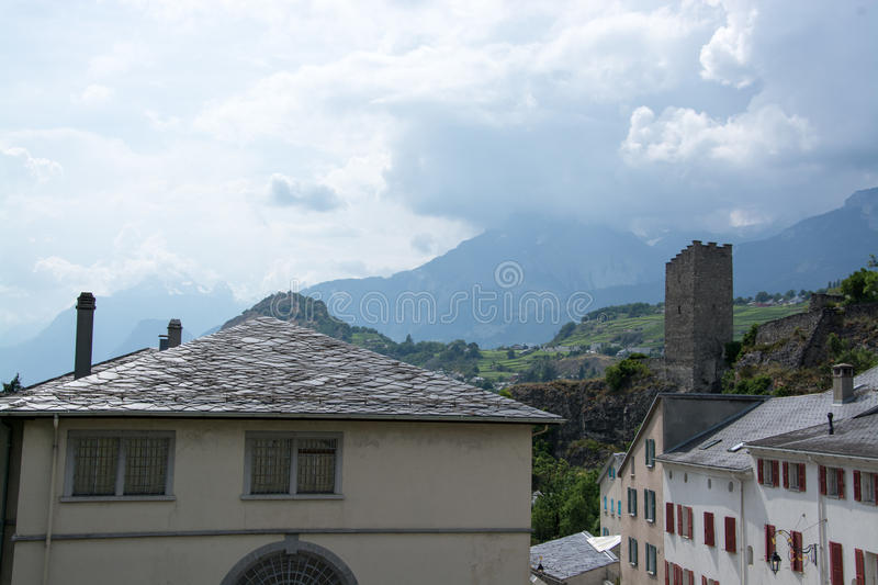 Sion, Valais, Switzerland royalty free stock images