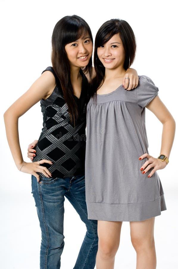 siostry. fotografia stock