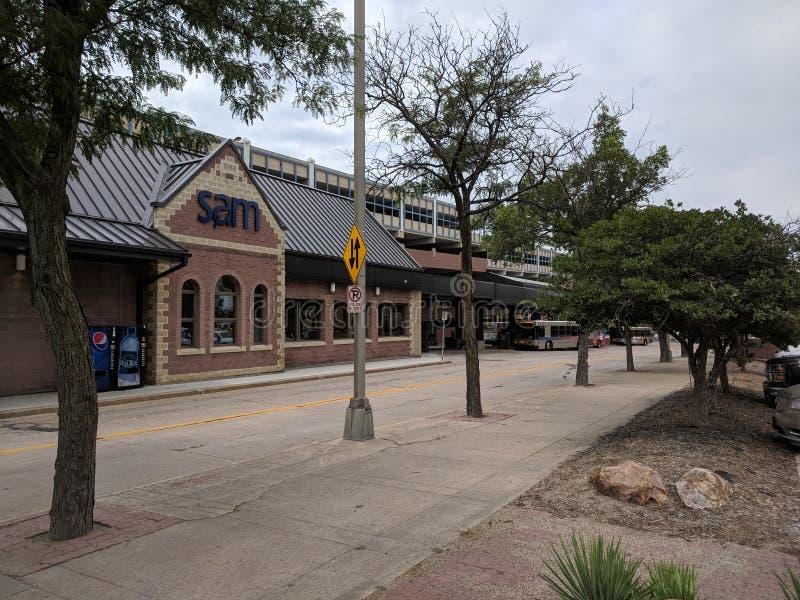 SAM Depot. Sioux Area Metro bus & trolley depot in downtown Sioux Falls, South Dakota stock photo