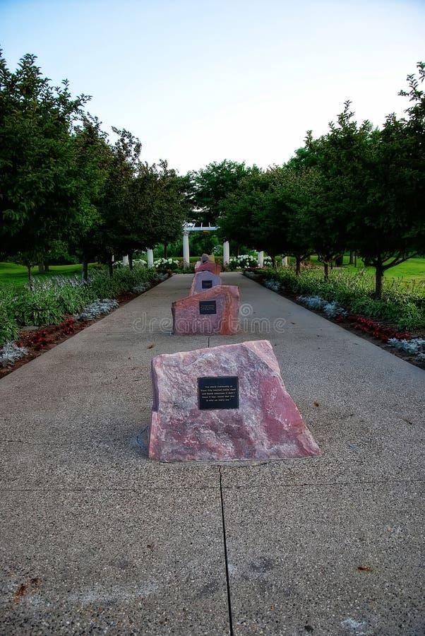 Sioux City Park y monumento fotografía de archivo