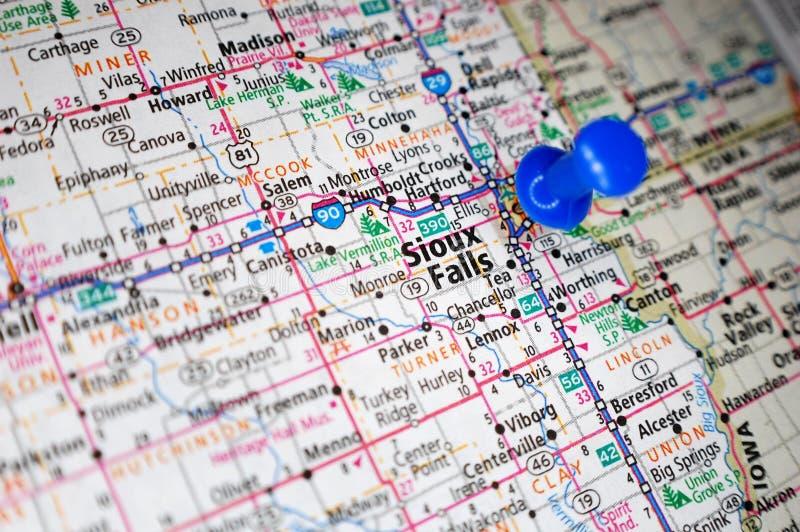Sioux Falls, il Dakota del Sud fotografia stock libera da diritti