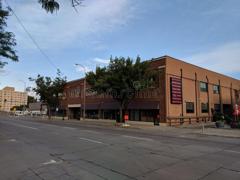 Sioux Falls Ministry Center & Center of Hope. New Haven Ministries / Planned Life is a faith based Community Outreach in Downtown Sioux Falls, South Dakota stock photo