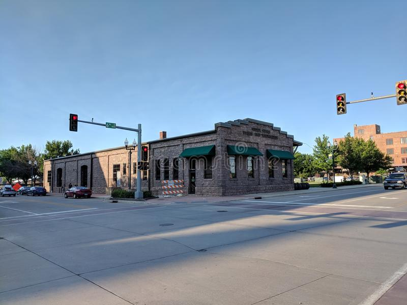 Sioux Falls Parks Department. The Parks and Rec building is a lovely old train station royalty free stock photos