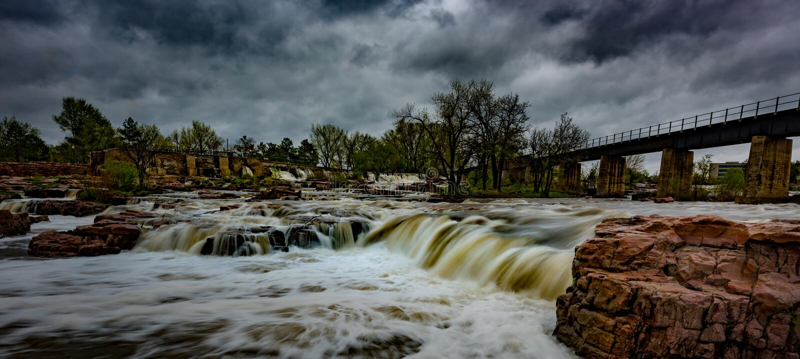 Sioux Falls South Dakota United-de Landschappen van Staten stock foto's
