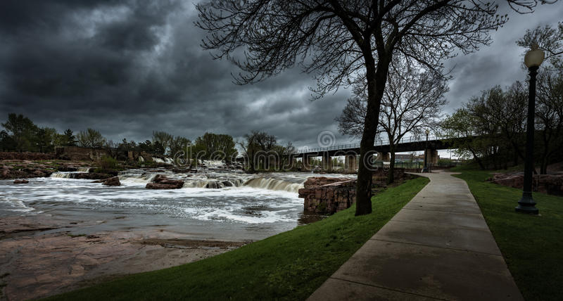 Sioux Falls South Dakota United States Landscapes. Falls Park - Sioux Falls South Dakota United States Landscapes royalty free stock images