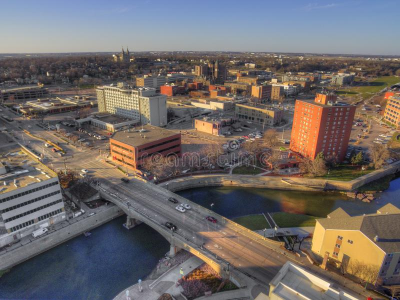 Sioux spadki są dużym miastem w stanie Południowy Dakota i centrum finansowe fotografia stock